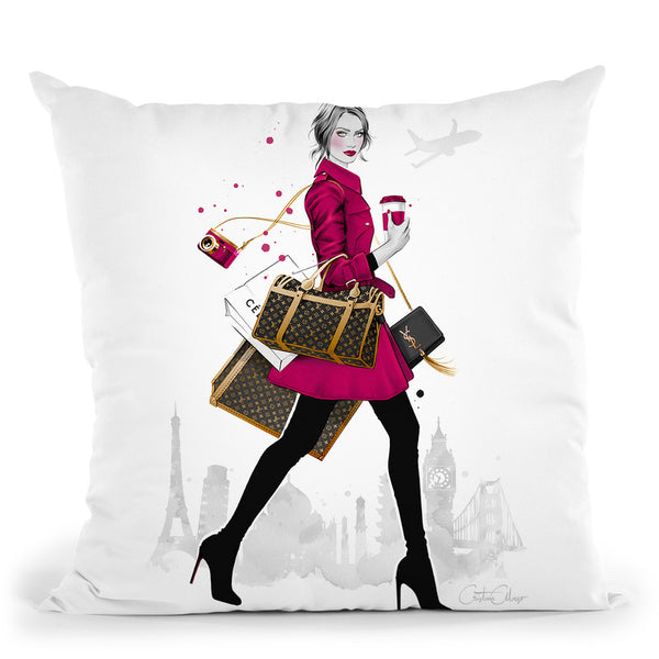Wanderlust Throw Pillow By Cristina Alonso