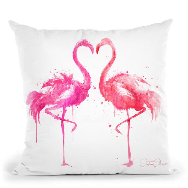 Flamingo Love Throw Pillow By Cristina Alonso