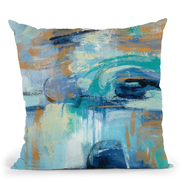Sapphire Ring Throw Pillow By Silvia Vassileva