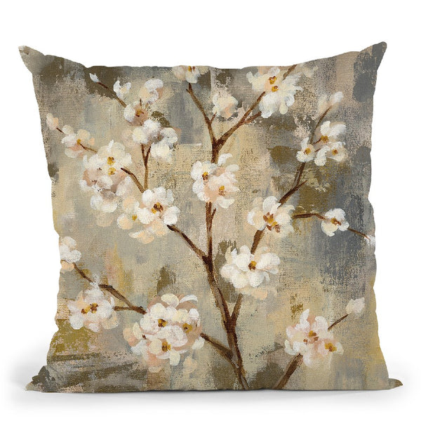 Neutral Branches Ii Throw Pillow By Silvia Vassileva