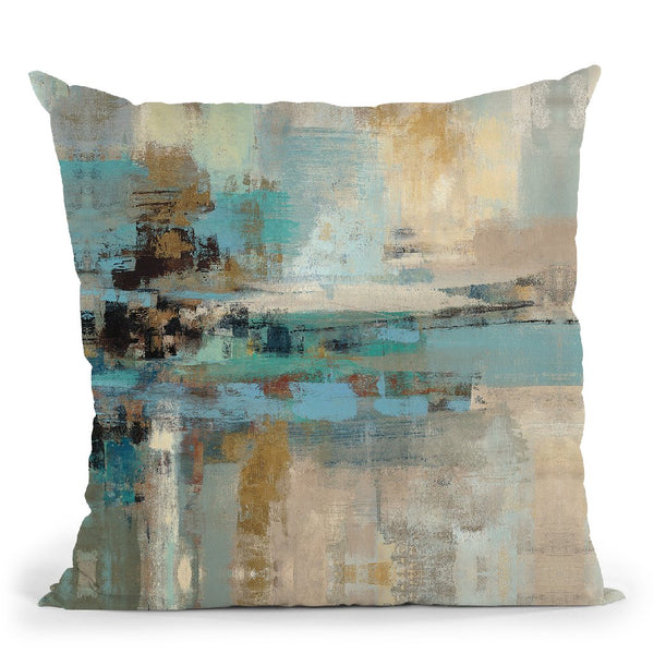 Morning Fjord Square Ii Throw Pillow By Silvia Vassileva