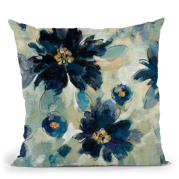 Inky Floral Ii Throw Pillow By Silvia Vassileva
