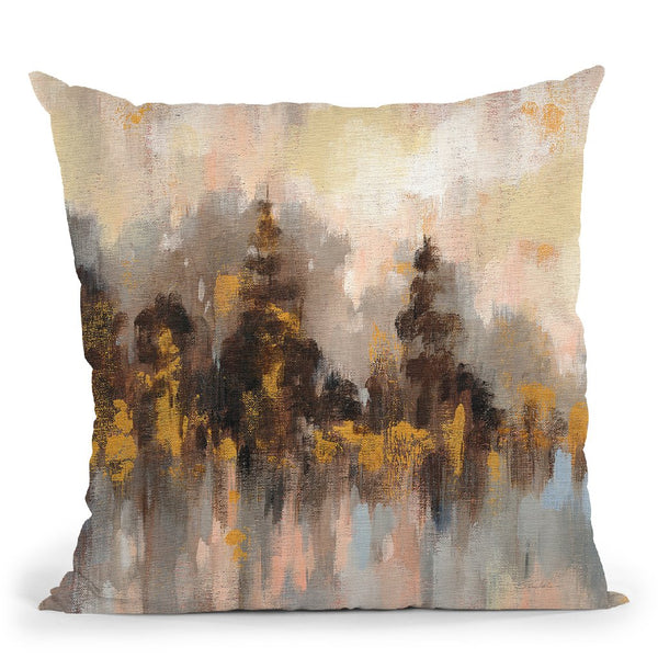 Blushing Forest Ii Throw Pillow By Silvia Vassileva