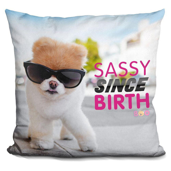 Boo Sassy Since Birth Throw Pillow