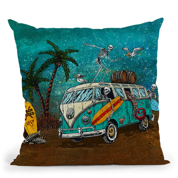 Beach Break Throw Pillow By Tate Licensing