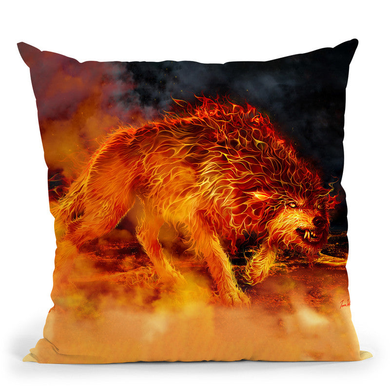 Fire Stalker Throw Pillow By Tate Licensing