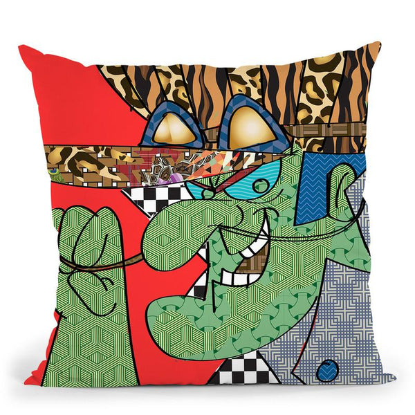 Dick Throw Pillow By  Technodrome1