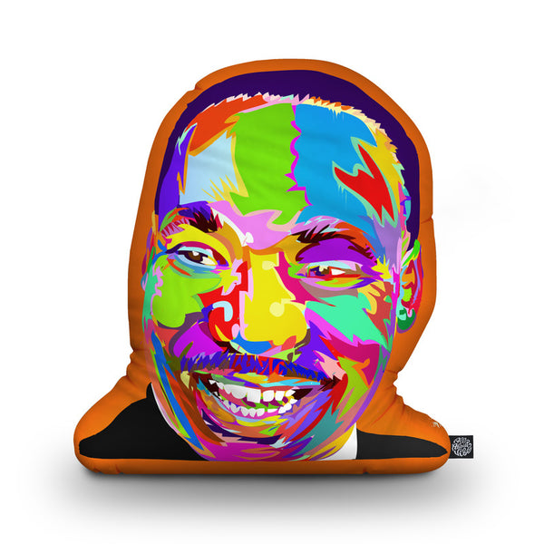 Martin Luther Kingjr Shaped Throw Pillow by Technodrome1 - by all about vibe