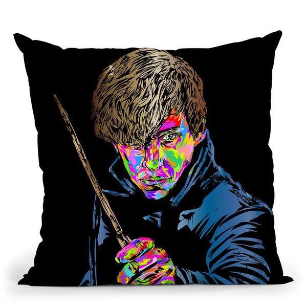 Newt Scermander Throw Pillow By  Technodrome1
