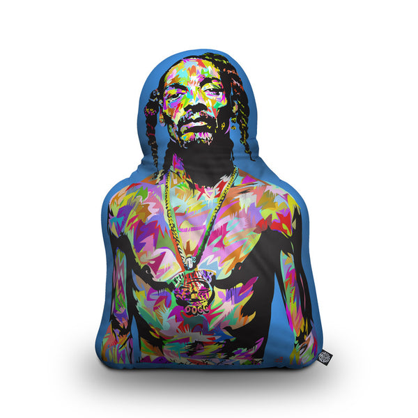 Snoop Shaped Throw Pillow by Technodrome1 - by all about vibe