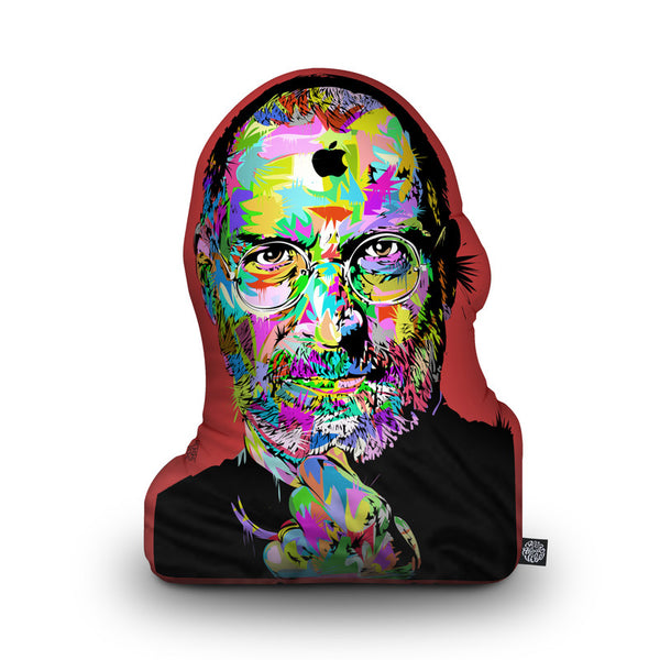 Steve Jobs Shaped Throw Pillow by Technodrome1 - by all about vibe