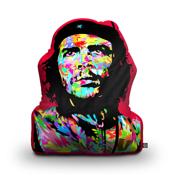 Che Shaped Throw Pillow by Technodrome1 - by all about vibe