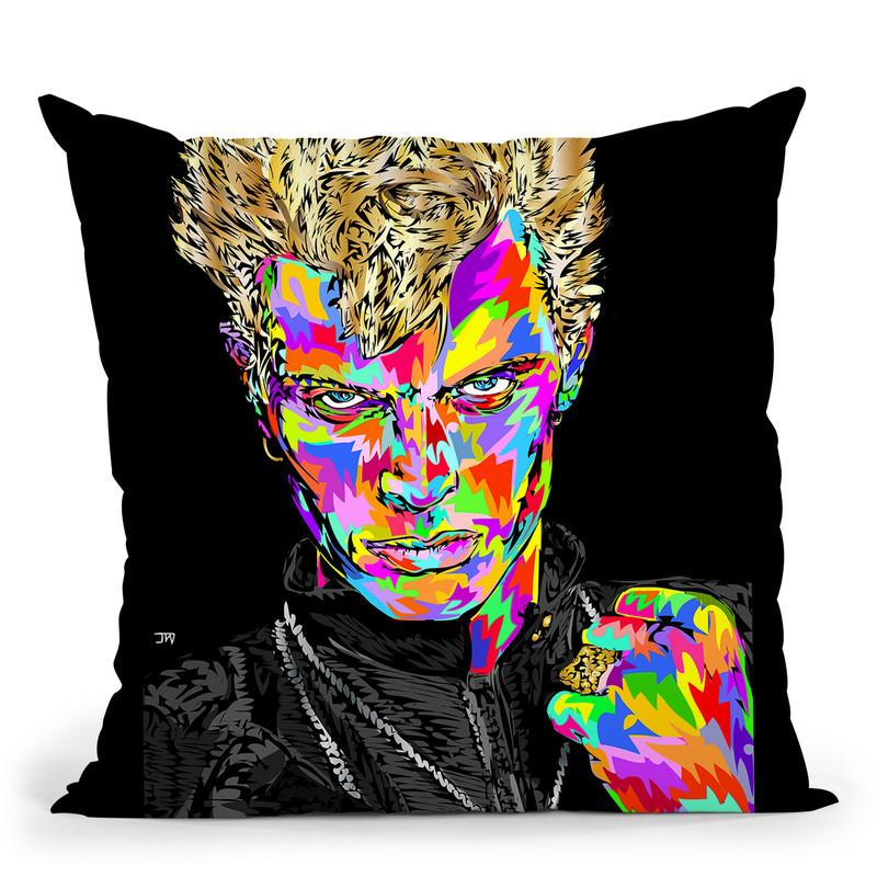 Billyidol Throw Pillow By  Technodrome1