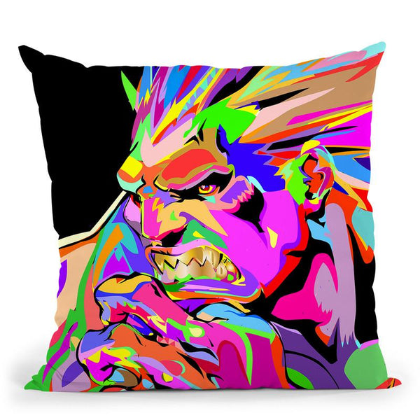 Blanka Throw Pillow By  Technodrome1