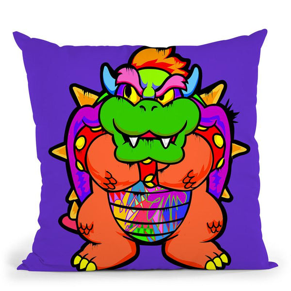 Bowser Throw Pillow By  Technodrome1