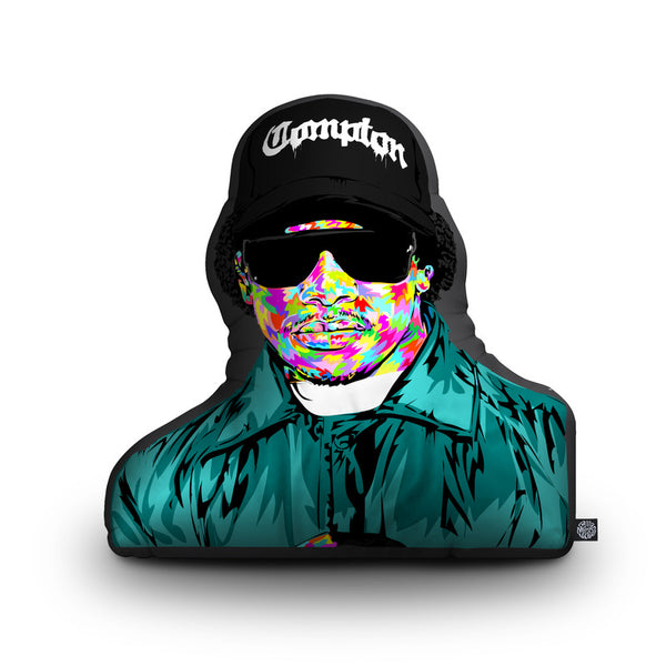 Eazy-E Shaped Throw Pillow by Technodrome1 - by all about vibe