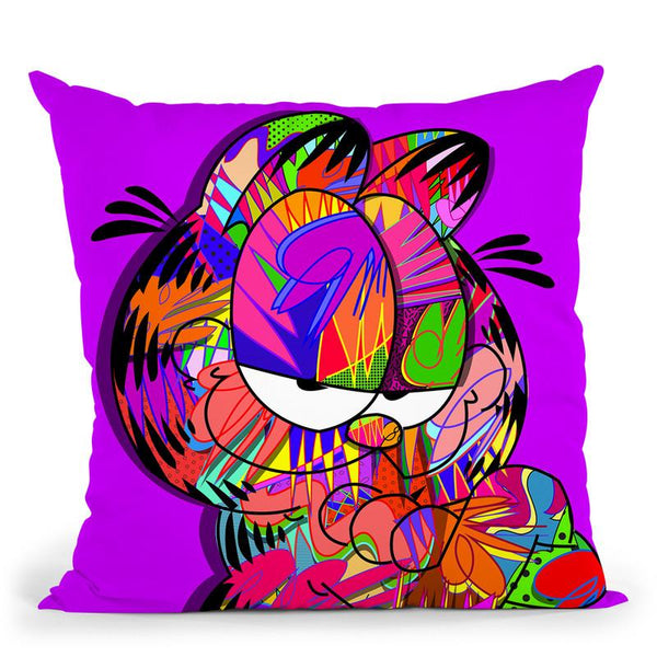 Garfield Throw Pillow By  Technodrome1
