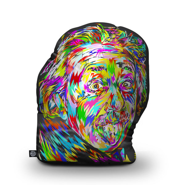 Einstein Shaped Throw Pillow by Technodrome1 - by all about vibe