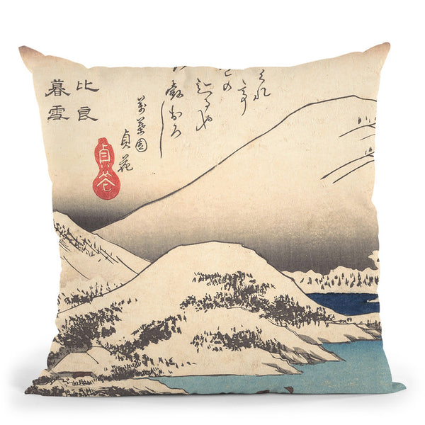 Snow At Mthira Throw Pillow By Tesai Hokuba