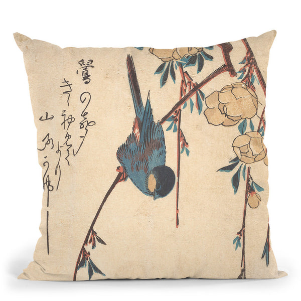 Weeping Cherry Throw Pillow By Tesai Hokuba