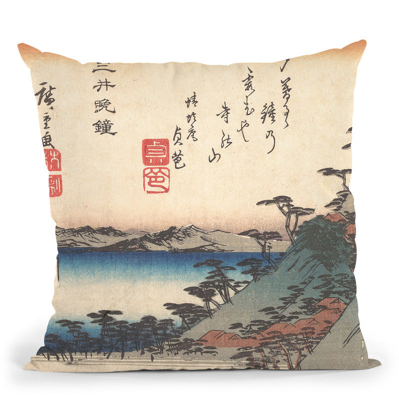 Bells At Miitemple Throw Pillow By Tesai Hokuba