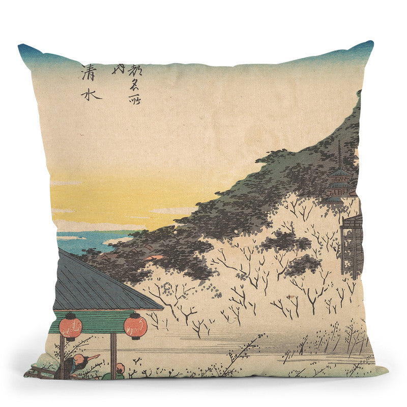 Kiyomizu Throw Pillow By Tesai Hokuba