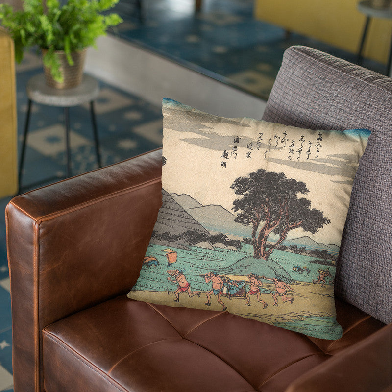 Shono Throw Pillow By Utagawa Hiroshige