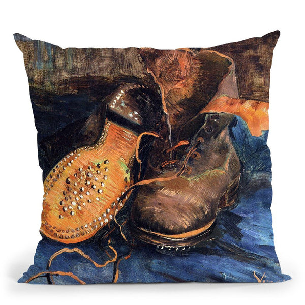 A Pair Ofoes Throw Pillow By Van Gogh