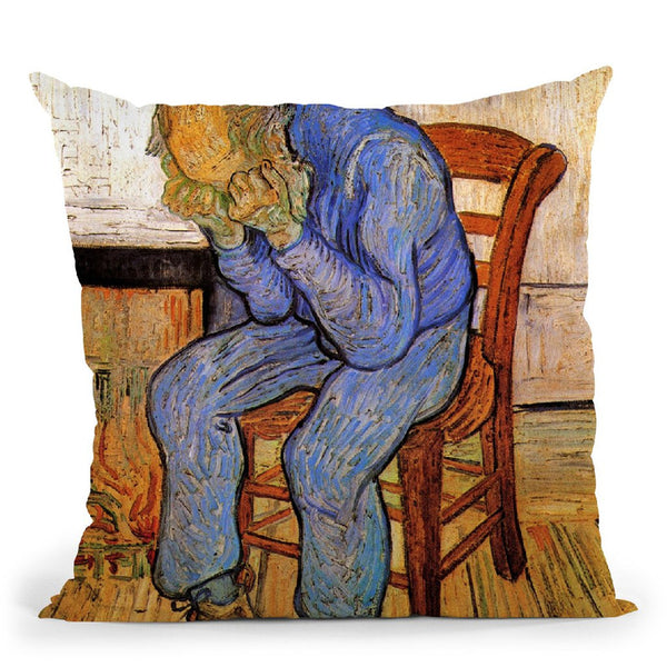 Old Man In Sorrow Throw Pillow By Van Gogh
