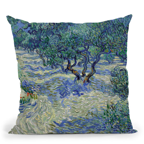 Olive Orchard Throw Pillow By Van Gogh