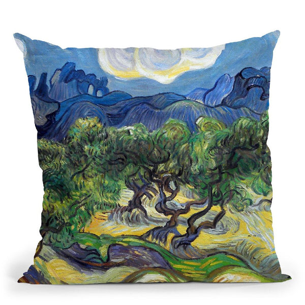 Olive Trees With The Alpilles I Throw Pillow By Van Gogh