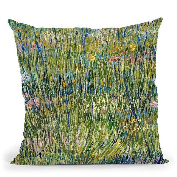 Patch Of Grass Throw Pillow By Van Gogh