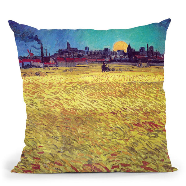 Sommerabend Throw Pillow By Van Gogh