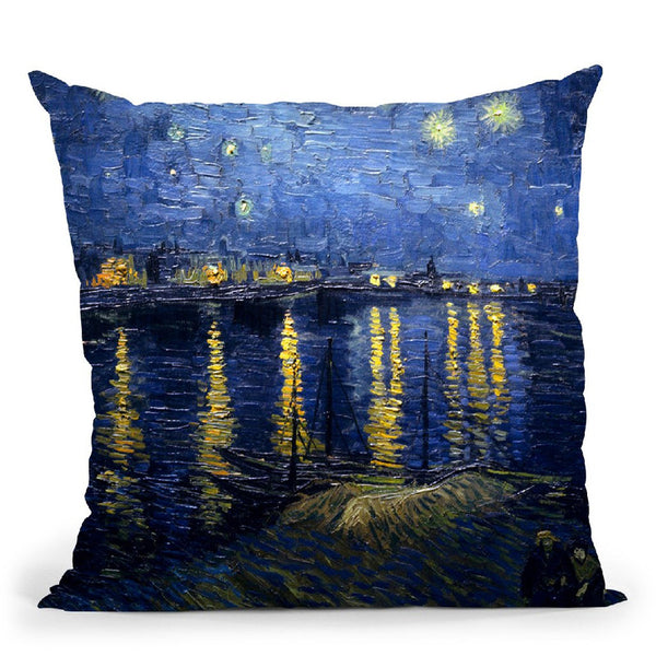 Starry Night Over The Rhone Throw Pillow By Van Gogh