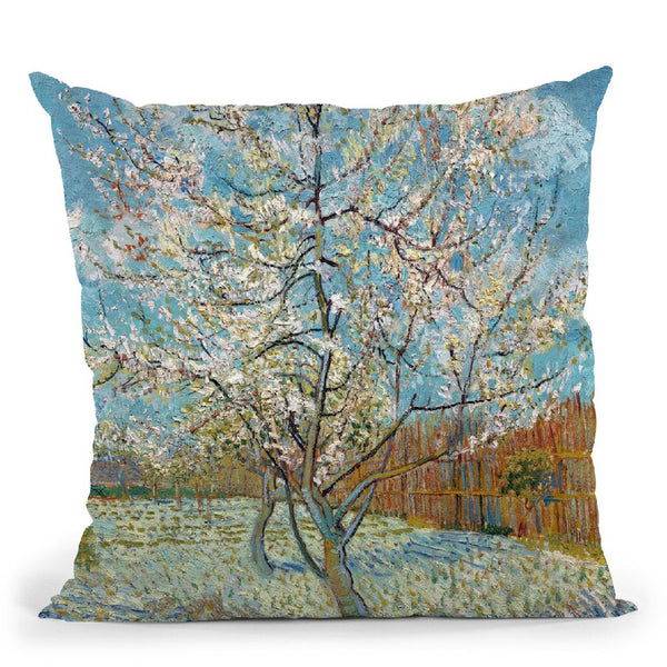 The Pink Peach Tree Throw Pillow By Van Gogh