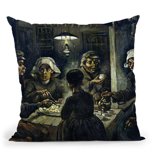 The Potato Eaters Throw Pillow By Van Gogh