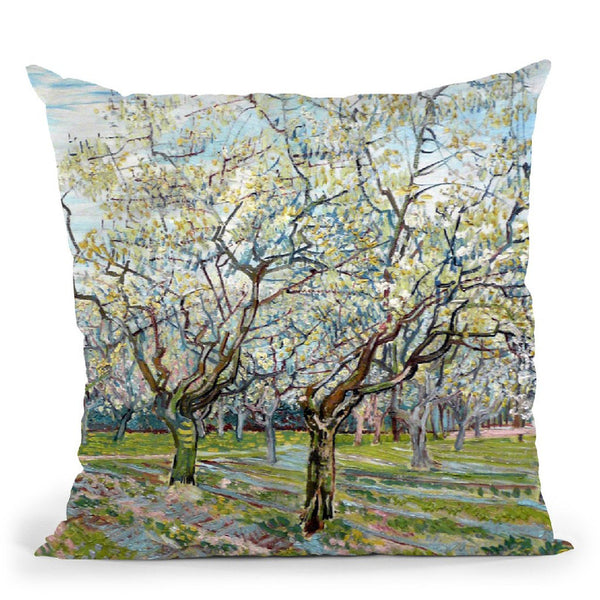 The White Orchard Throw Pillow By Van Gogh