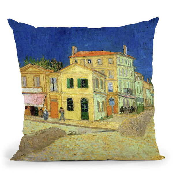 The Yellow House Throw Pillow By Van Gogh