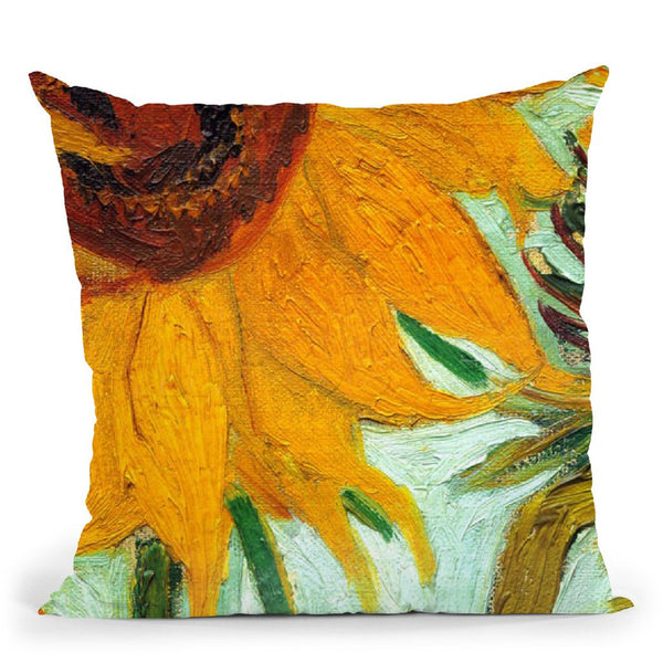 Twelve Sunflowers Throw Pillow By Van Gogh