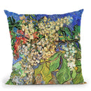 Blossoming Chestnut Branches Throw Pillow By Van Gogh