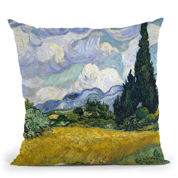 Wheat Field With Cypresses Throw Pillow By Van Gogh