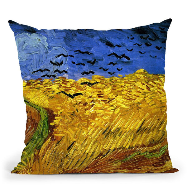 Wheatfield With Crows Throw Pillow By Van Gogh