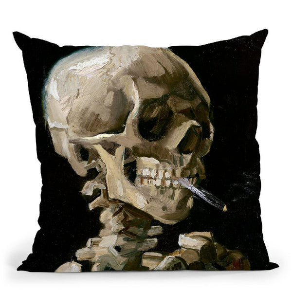 Skul Of A Skeleton Throw Pillow By Van Gogh