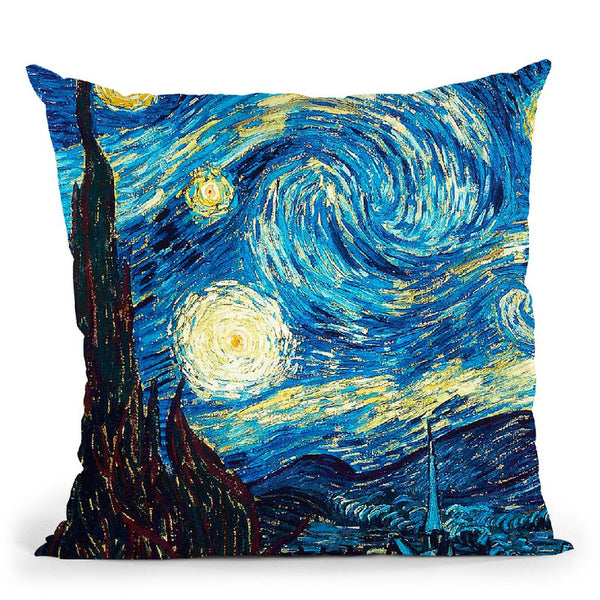 The Starry Night Throw Pillow By Van Gogh