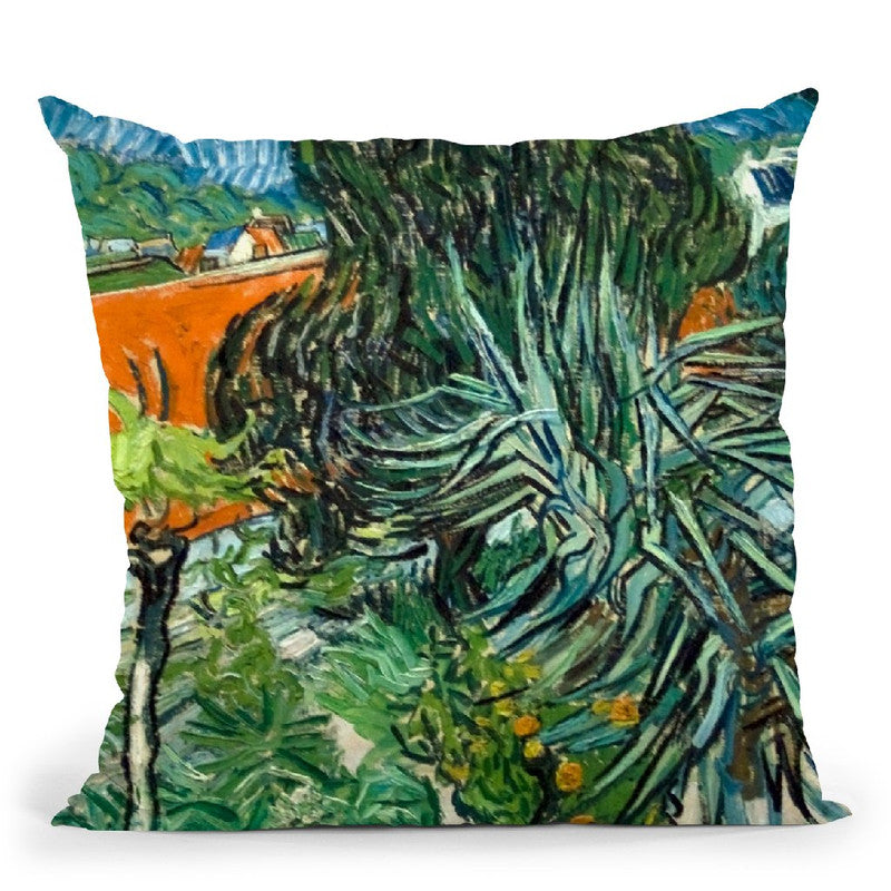 Doctor Gachet'S Garden In Auver Throw Pillow By Van Gogh