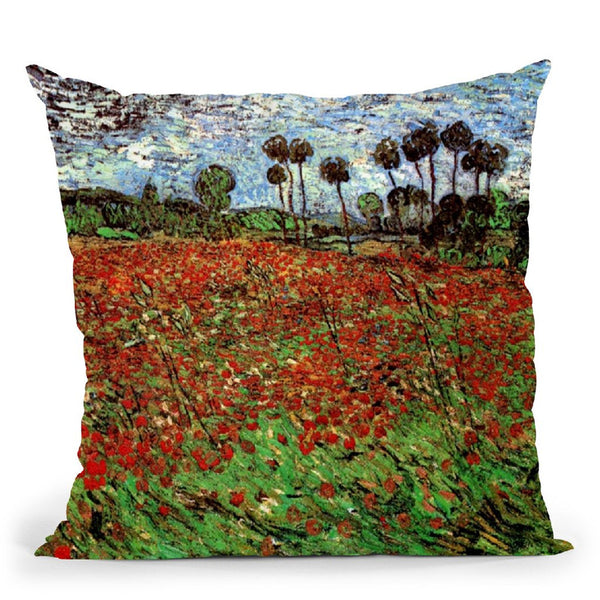 Field Of Poppies Throw Pillow By Van Gogh