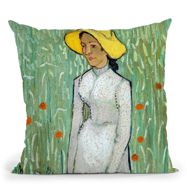 Girl In White Throw Pillow By Van Gogh