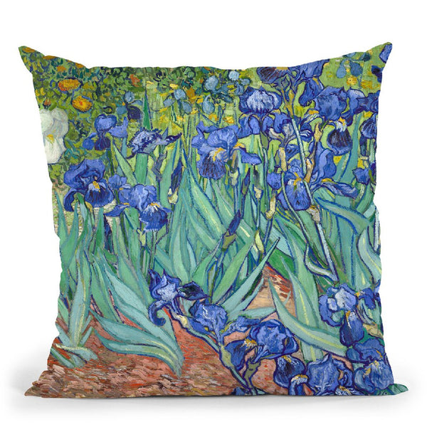Irises Throw Pillow By Van Gogh