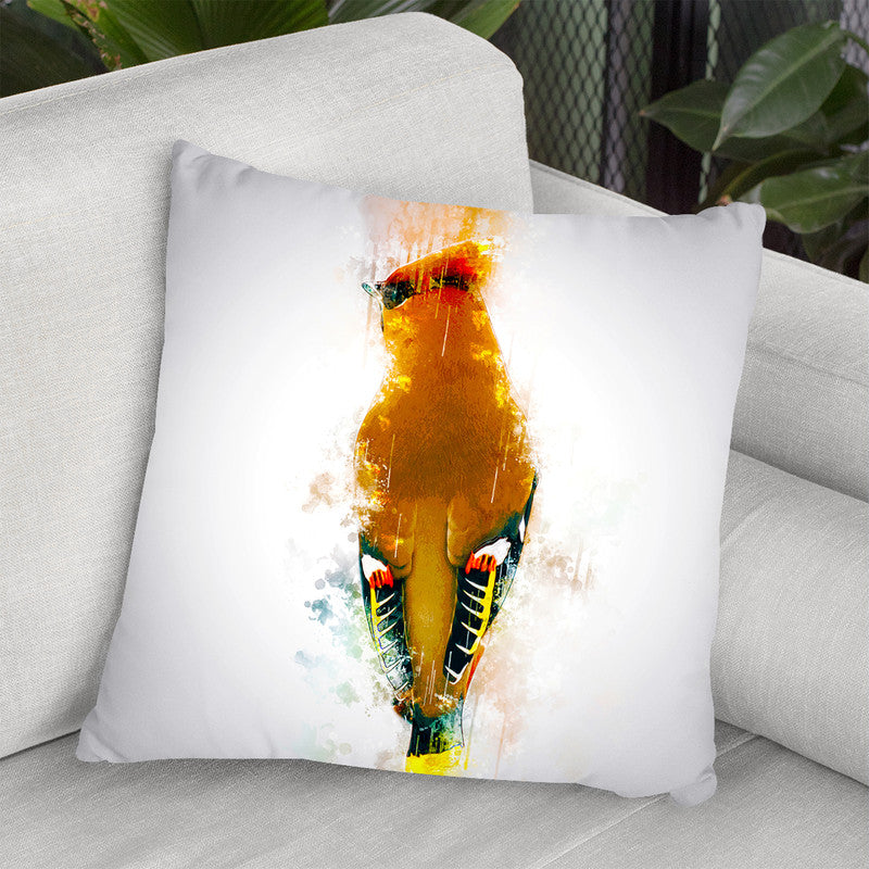 Bohemian Waxwing Throw Pillow By Cornel Vlad - by all about vibe