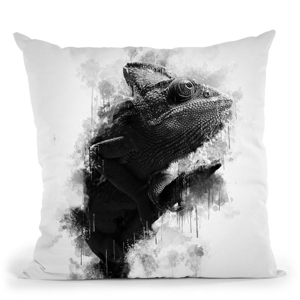 Chameleon I Throw Pillow By Cornel Vlad - by all about vibe